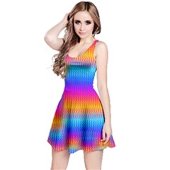 Psychedelic Rainbow Heat Waves Reversible Sleeveless Dresses