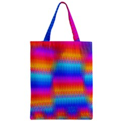 Psychedelic Rainbow Heat Waves Classic Tote Bags