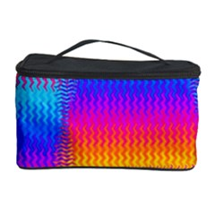 Psychedelic Rainbow Heat Waves Cosmetic Storage Cases
