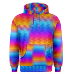 Psychedelic Rainbow Heat Waves Men s Pullover Hoodies