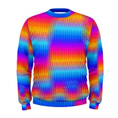 Psychedelic Rainbow Heat Waves Men s Sweatshirts