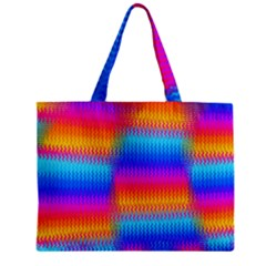 Psychedelic Rainbow Heat Waves Zipper Tiny Tote Bags