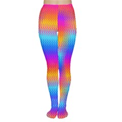 Psychedelic Rainbow Heat Waves Women s Tights