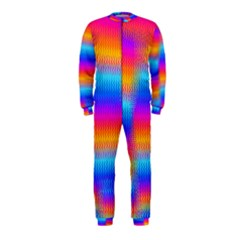 Psychedelic Rainbow Heat Waves Onepiece Jumpsuit (kids)