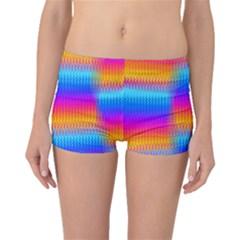 Psychedelic Rainbow Heat Waves Boyleg Bikini Bottoms