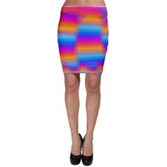 Psychedelic Rainbow Heat Waves Bodycon Skirts