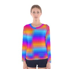 Psychedelic Rainbow Heat Waves Women s Long Sleeve T-shirts