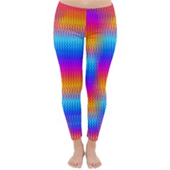 Psychedelic Rainbow Heat Waves Winter Leggings