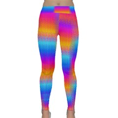 Psychedelic Rainbow Heat Waves Yoga Leggings