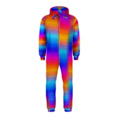 Psychedelic Rainbow Heat Waves Hooded Jumpsuit (kids)