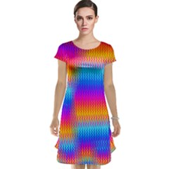 Psychedelic Rainbow Heat Waves Cap Sleeve Nightdresses