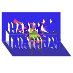 Fairy Punk Happy Birthday 3d Greeting Card (8x4)