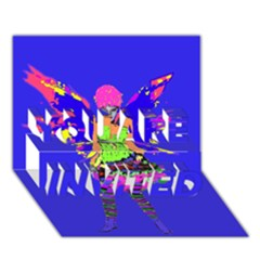 Fairy Punk You Are Invited 3d Greeting Card (7x5)