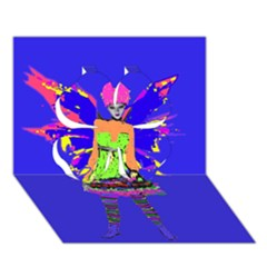 Fairy Punk Clover 3D Greeting Card (7x5)