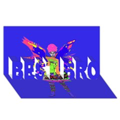 Fairy Punk BEST BRO 3D Greeting Card (8x4)