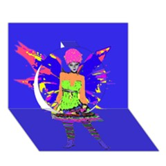 Fairy Punk Circle 3d Greeting Card (7x5)