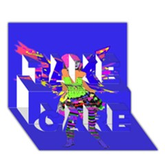 Fairy Punk TAKE CARE 3D Greeting Card (7x5)