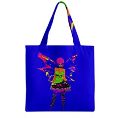 Fairy Punk Grocery Tote Bags