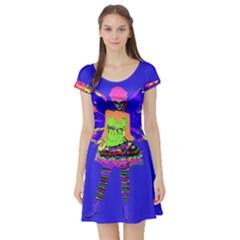 Fairy Punk Short Sleeve Skater Dresses