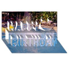 Splash 3 Happy Birthday 3D Greeting Card (8x4)
