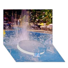 Splash 3 Circle Bottom 3D Greeting Card (7x5)