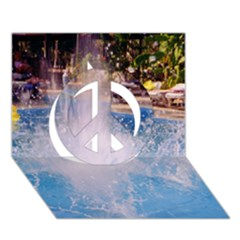Splash 3 Peace Sign 3D Greeting Card (7x5)