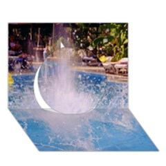 Splash 3 Circle 3d Greeting Card (7x5)