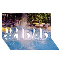 Splash 3 #1 DAD 3D Greeting Card (8x4)