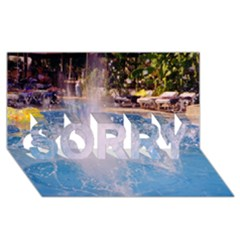 Splash 3 Sorry 3d Greeting Card (8x4)