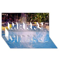 Splash 3 Merry Xmas 3d Greeting Card (8x4)