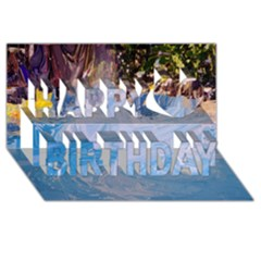 Splash 4 Happy Birthday 3d Greeting Card (8x4)