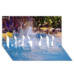 Splash 4 BEST SIS 3D Greeting Card (8x4)