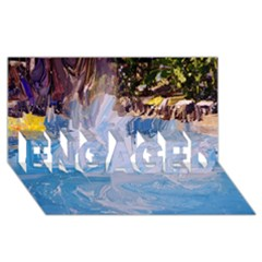 Splash 4 ENGAGED 3D Greeting Card (8x4)
