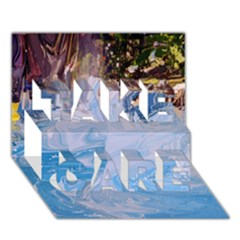 Splash 4 Take Care 3d Greeting Card (7x5)