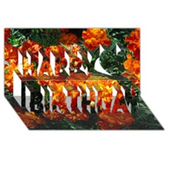 Tagetes Happy Birthday 3D Greeting Card (8x4)