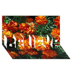 Tagetes BELIEVE 3D Greeting Card (8x4)