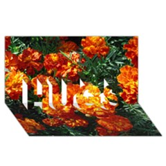 Tagetes HUGS 3D Greeting Card (8x4)