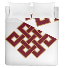 Buddhist Endless Knot Auspicious Symbol Duvet Cover (full/queen Size)