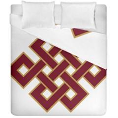 Buddhist Endless Knot Auspicious Symbol Duvet Cover (double Size)