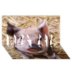 Sweet Piglet Best Sis 3d Greeting Card (8x4)