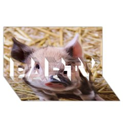 Sweet Piglet Party 3d Greeting Card (8x4)
