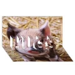 Sweet Piglet HUGS 3D Greeting Card (8x4)