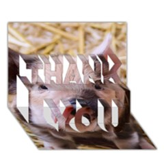 Sweet Piglet THANK YOU 3D Greeting Card (7x5)