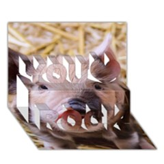 Sweet Piglet You Rock 3d Greeting Card (7x5)