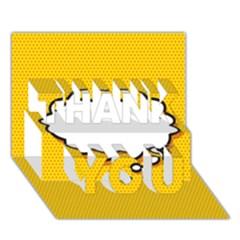Comic Book Think Thank You 3d Greeting Card (7x5)