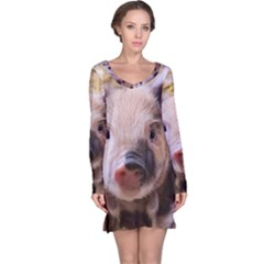 Sweet Piglet Long Sleeve Nightdresses