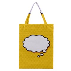 Comic Book Think Classic Tote Bags