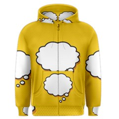 Comic Book Think Men s Zipper Hoodies