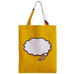 Comic Book Think Zipper Classic Tote Bags