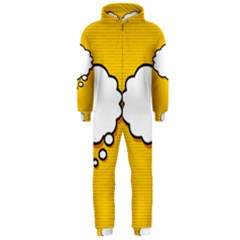 Comic Book Think Hooded Jumpsuit (Men)